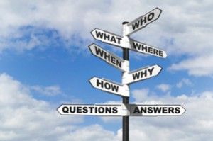 Questions and Answers signpost