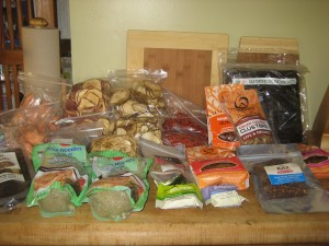 Dehydrated snacks and superfoods