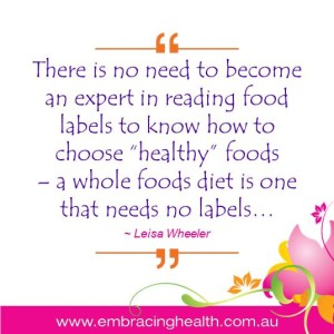 A Whole Foods Diet Needs No Labels