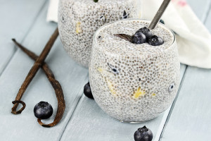 Chia Seed Pudding And Fruit