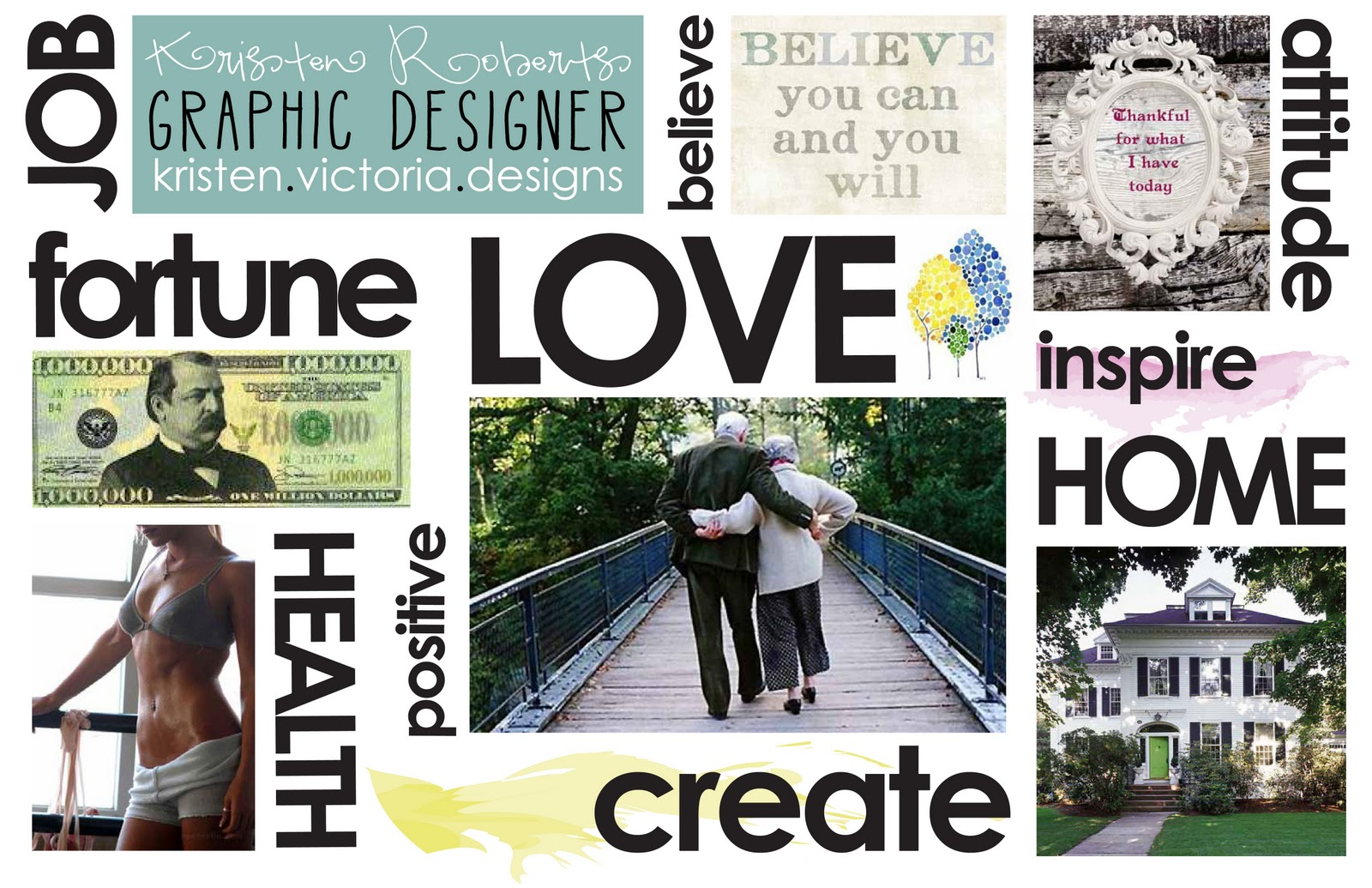 Vision boards embracing the new year embracing health for Home design vision board