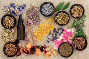 Herbal naturopathic medicine selection also used in pagan witche